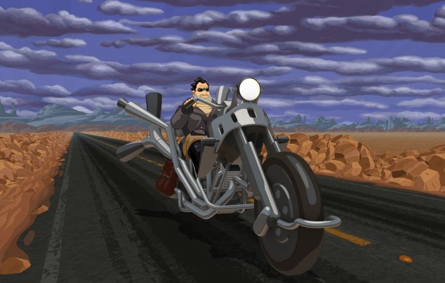 "Szene aus ""Vollgas"" bzw. ""Full Throttle Remastered"""