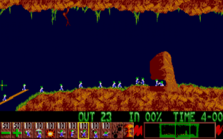 Lemmings Einzelspieler-Screenshot