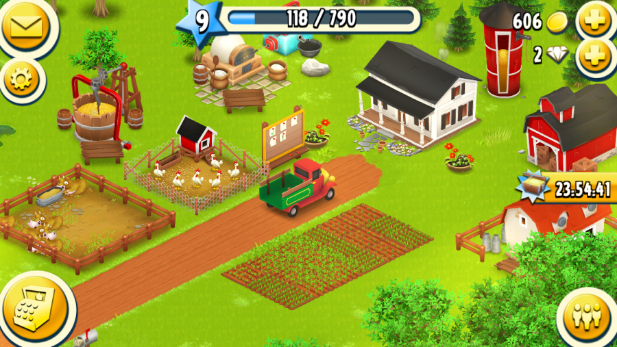 Screenshot aus Hay Day.