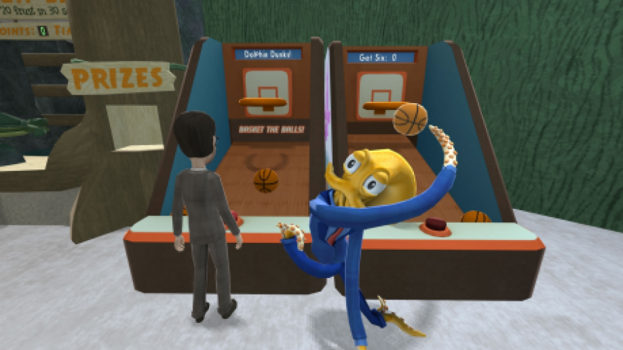 Basketballspielen in Octodad