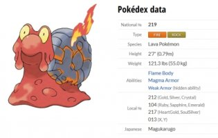 pokémon magcargo pokedex