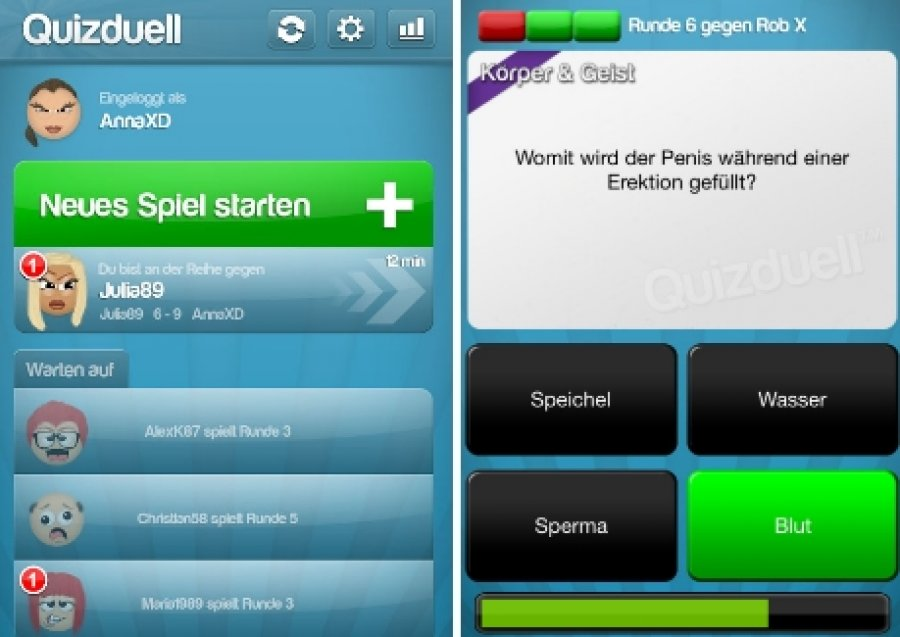 Quizduell chat