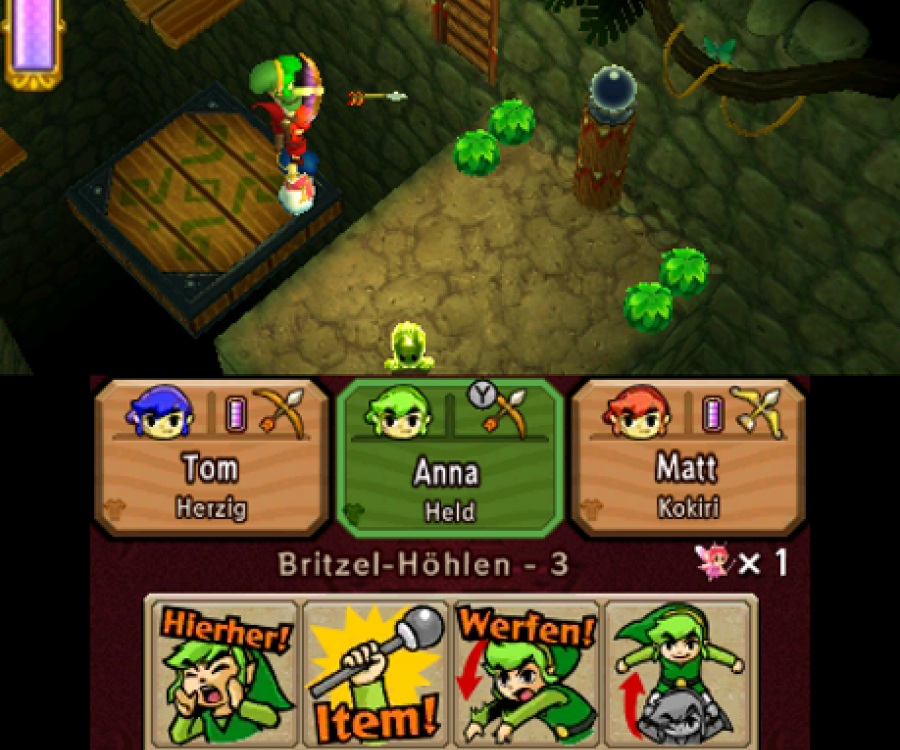 Zelda: Tri Force Heroes - Screenshot 1
