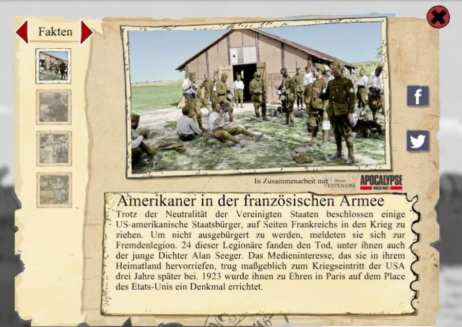 Screenshot des Spiels Valiant Hearts